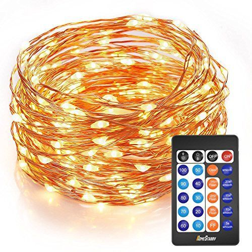 Homestarry Outdoor String Lights,Dimmable LED Starry String lights Perfect for Bedroom,Garden,Party,Indoor and Outdoor Decorations… #DIY