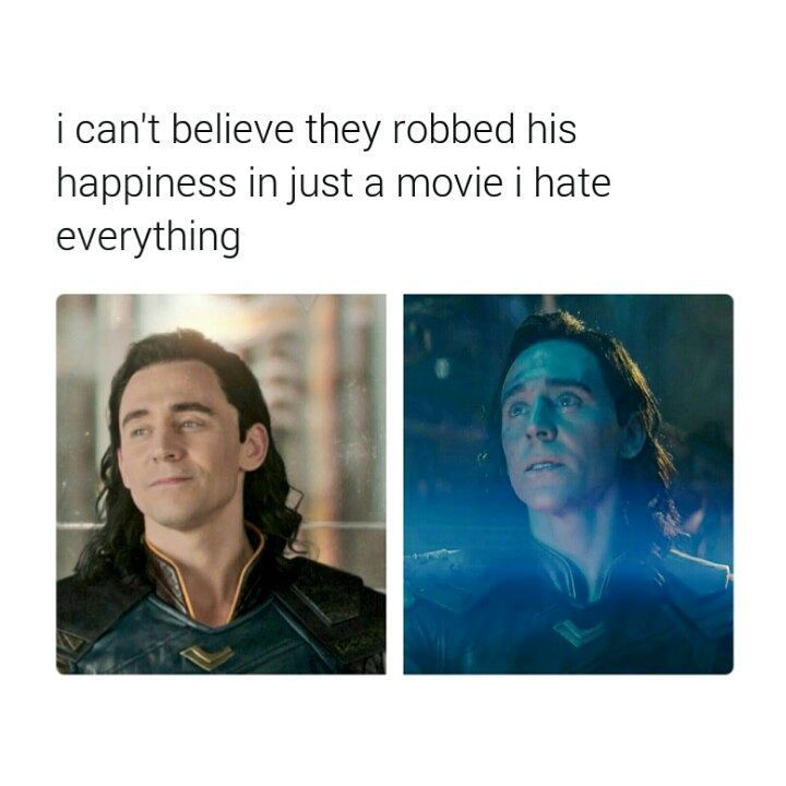 He was actually happy in Ragnarok! AND THEY STOLE IT FROM HIM IN INFINITY WAR DX