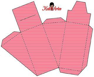 Cajas a rayas para tarta - pastel de cajas, para imprimir gratis. 29 modelos diferentes.