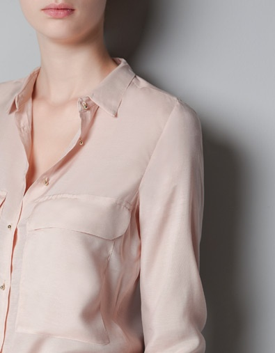 SHIRT WITH PATCH POCKET - Shirts - Woman - ZARA