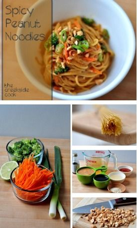 Spicy Peanut Noodles - fast, easy and filled with amazing flavors! | The Creekside Cook