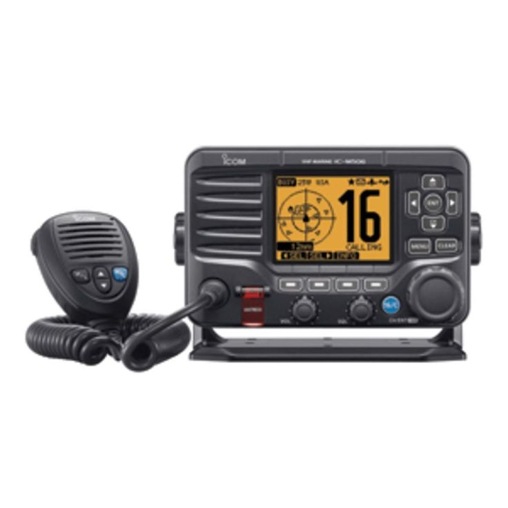Icom M506 VHF Fixed Mount w-Front Mic & NMEA 0183-2000® - Black