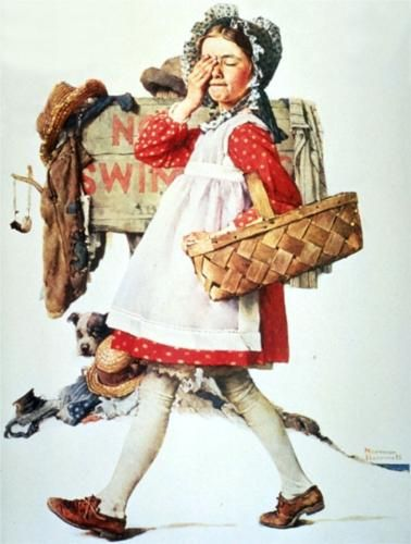 Look Away - Norman Rockwell