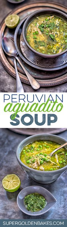 A twist on Peruvian aquadito with cilantro, chicken and quinoa. Quinoa is not traditionally used in aguadito but it makes the soup extra filling and healthy.