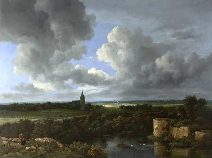 'A Landscape with a Ruined Castle and a Church' by Jacob van Ruisdael.
