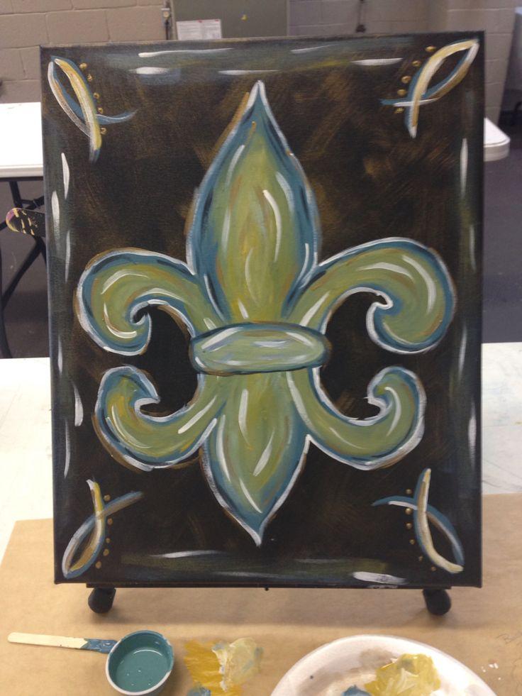 I painted this! Yay! Flur de lis 2015