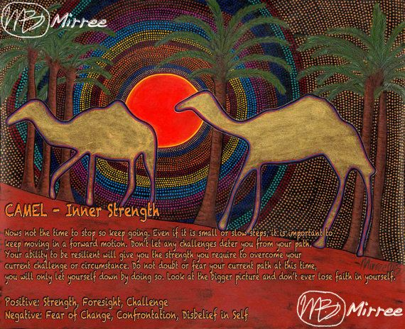 Limited Edition Golden Camels Painting by DreamsofCreationAust