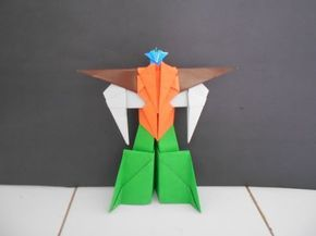 Cara Membuat Mainan Anak Origami Robot Transformers - How To Make Paper Robot - Origami Paper - YouTube
