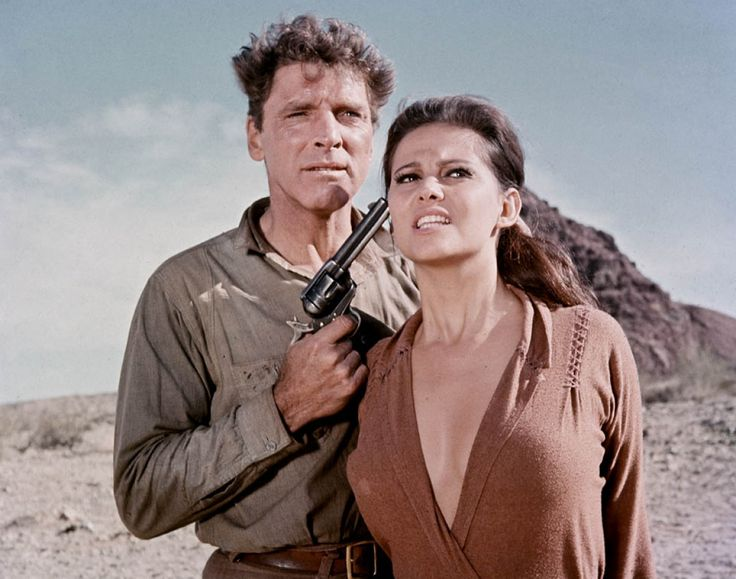 "burt lancaster kiss | Burt Lancaster and Claudia Cardinale in ""The Professionals"" directed ..."