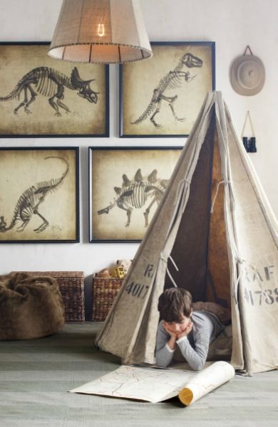 RH Baby & Child!!! The tee pee, the dino prints!  gahhhhh!