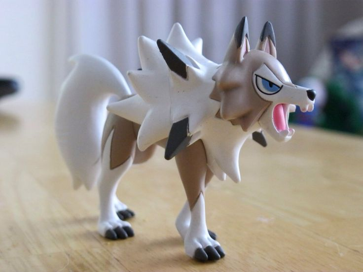 Lycanroc Midday Forme Tomy Figure by ShadoweonCollections on @DeviantArt