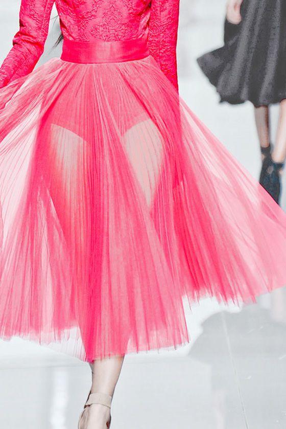 Pleated #pink. Christian Dior F/W 2012 RTW
