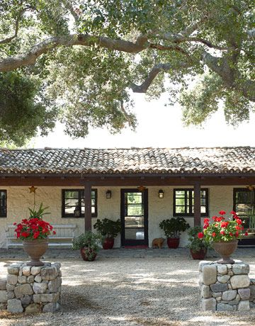 Not sure why, but I have always liked the idea of a big, sprawling spanish ranch house, with a court yard and stables!