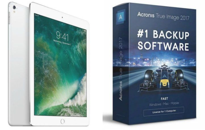 "Win a 9.7"" iPad Pro Wi-Fi 128GB Silver; and a Acronis True Image 2017 for 5 PCs with 1 TB Acronis Cloud subscription worth $880.00. Just take a moment to enter."
