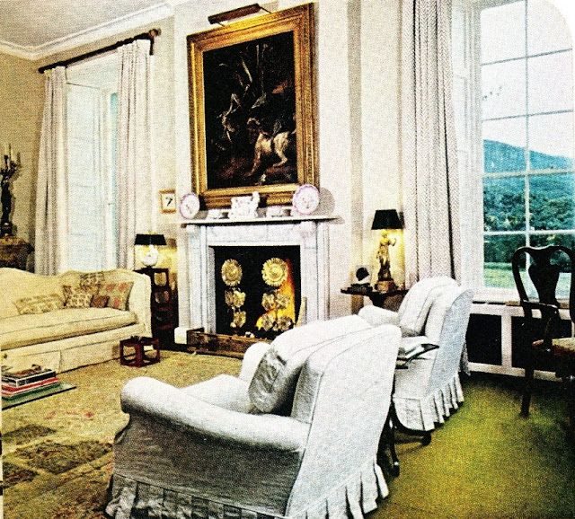 Awesome The Floor Of Cameronu0027s Library Was Covered In Green Felt, A Treatment That  Was Used In Other Rooms Of Glebe House. Over The Fireplace Was An Oudry  Painting, ...