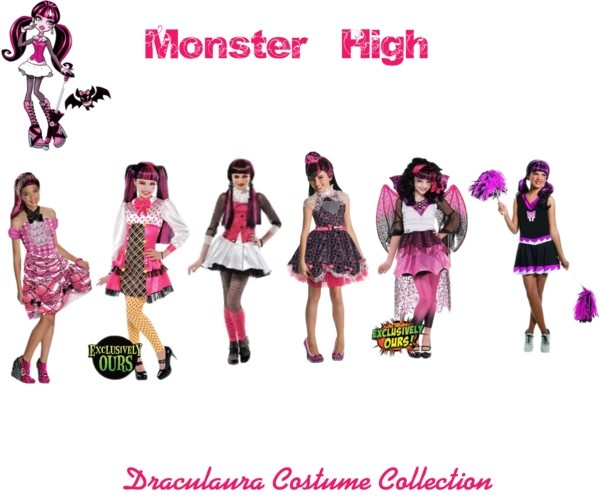"""Monster High Draculaura Costume Collection"" by lizzie-stanz on Polyvore"
