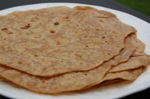 Whole wheat home-made tortillas