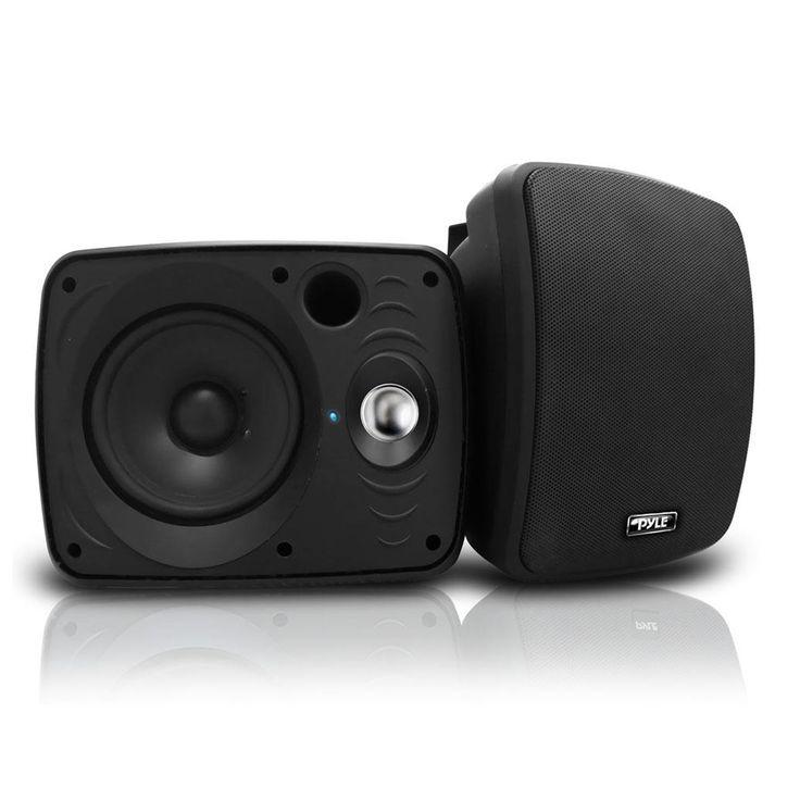 """Pyle Waterproof & Bluetooth 6.5"""" Indoor / Outdoor Speaker System, Black"""