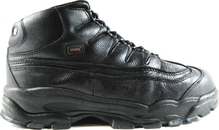 Red Wings Worx Men Leather Work Boots Black Steel Safety Toe Size 10.5 W.  ZZZ43 #RedWing