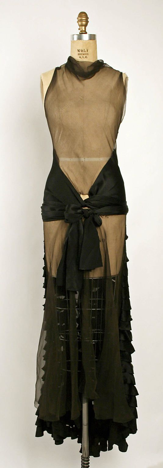 Evening dress by Madeleine Vionnet  (French, Chilleurs-aux-Bois 1876–1975 Paris)  Date: fall/winter 1929–30