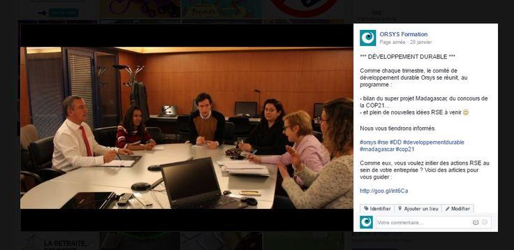 RSE #valeurs Orsys - Réunion du Comité Développement Durable d'Orsys - Découvrez nos offres d'emploi : http://www.orsys.fr/?mode=recrutement