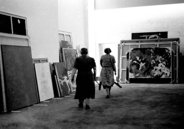 grupa o.k. Hans Haacke, Cleaning Women, Documenta, 1959