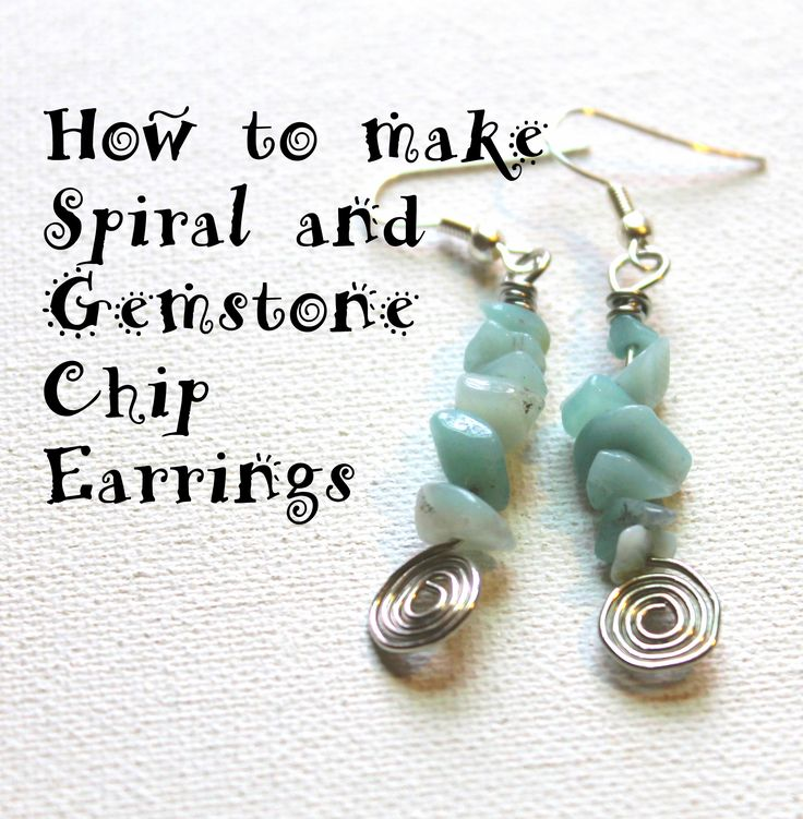Spiral and Gemstone Chip Earring Tutorial   Emerging Creatively ...