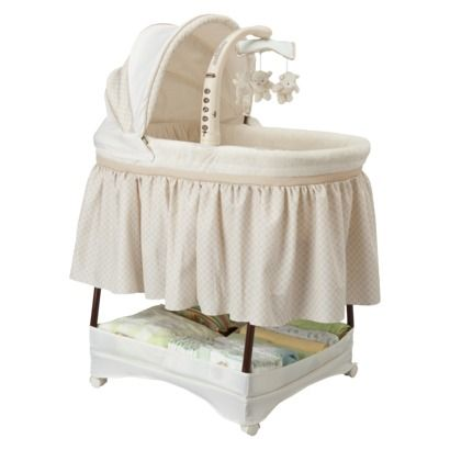 Simmons Kids Slumber Time Elite Bassinet - Espresso Latte Very cute and practical bassinet! great gender neutral item to use for all ur babies! :)
