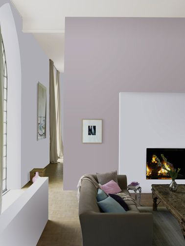 Best 25 gris taupe ideas on pinterest peinture gris - Mur violet et gris ...
