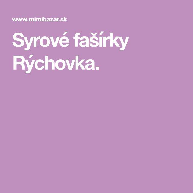 Syrové fašírky Rýchovka.