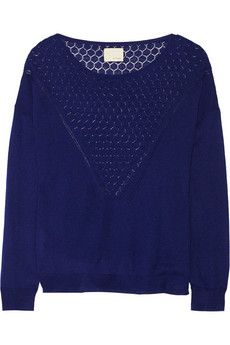 Band of Outsiders Silk and cashmere-blend sweater | THE OUTNET