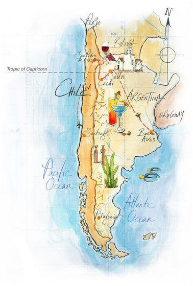 Map of Argentina by Jane Webster