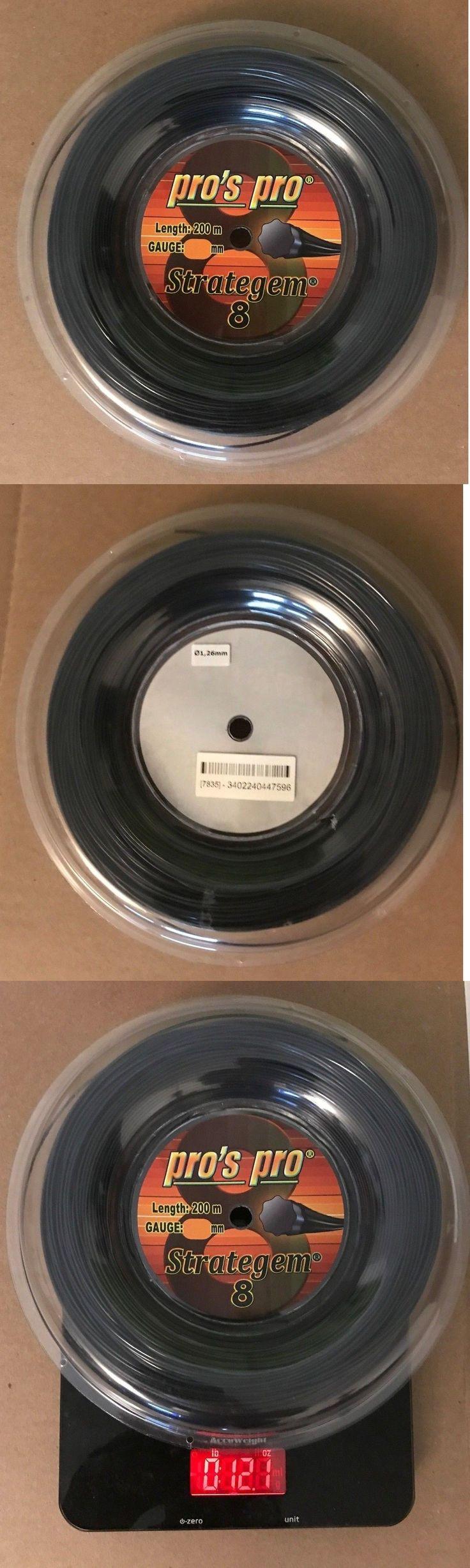 Strings 13343: Pro S Pro Strategem 8 1.25Mm Tennis String Reel 660Ft 200M -> BUY IT NOW ONLY: $60 on eBay!
