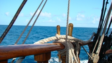 Day sail on the Brig Unicorn in St. Lucia. This ship and her crew were in all of The Pirates of the Caribbean movies.