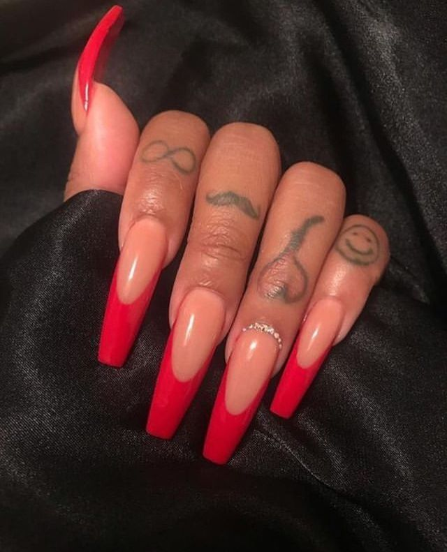 Red Nails Art Baddie Fire Rednails Nails Nailart Cute Acrylic Nails Red Acrylic Nails Long Acrylic Nails