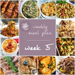 Table for Two's Weekly Meal Plan - Week 5