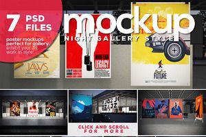 Poster Mockup Vol.4-Night Gallery
