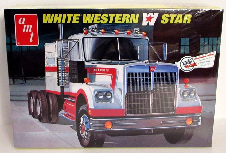 white western star truck amt   truck model kit  western star trucks trucks