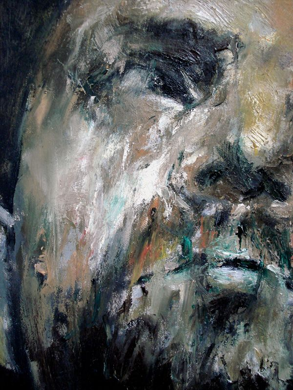 """EXZISTANCES"", 2011, 20 x 40 cm / 35, 7 x 45 cm / 40 cm , oil on canvas"
