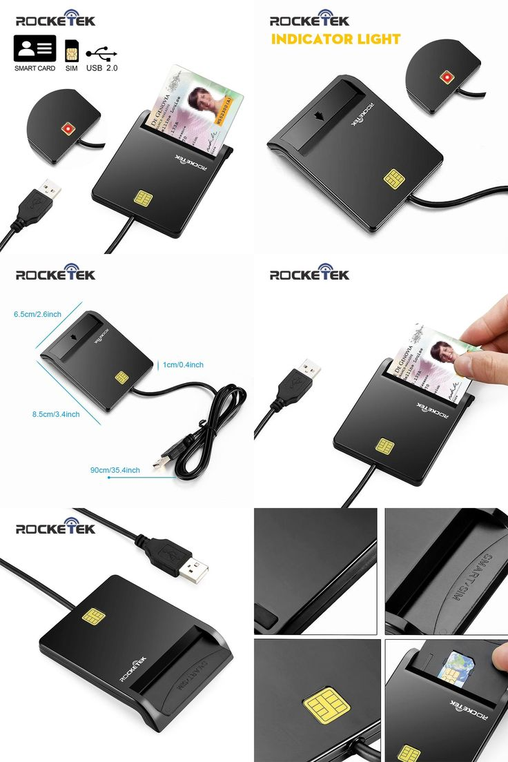 [Visit to Buy] Rocketek USB 2.0 high quality Smart Card Reader DOD Military USB Card Readers/CAC Common Access,sim card adapter, ID, Bank card #Advertisement