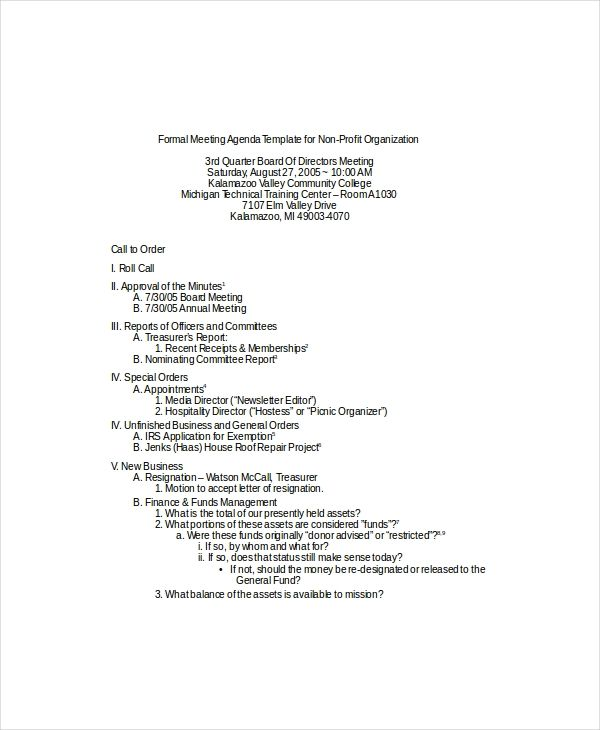 11 Meeting Agenda Template Meeting Agenda Template