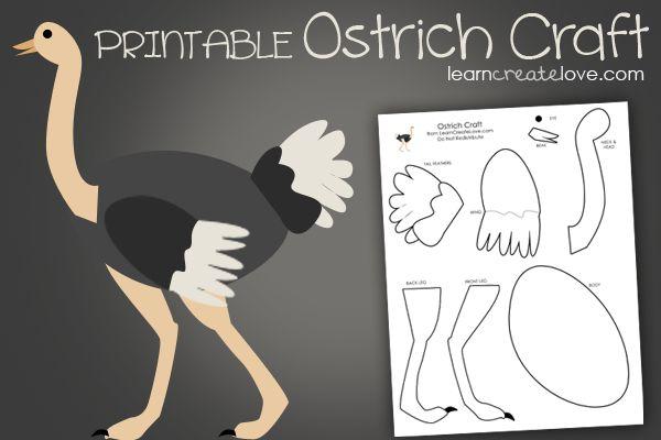 { Printable Ostrich Craft }