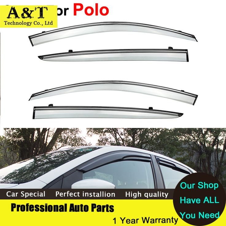 car styling Window Visors For  VW Polo 2012 2013 2014 Sun Rain Shield Stickers Covers Car - Styling Awnings Shelters