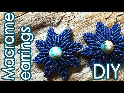 フラワーリーフイヤリングの作り方【マクラメ編み】Flower Leaf earrings Tutorial - YouTube