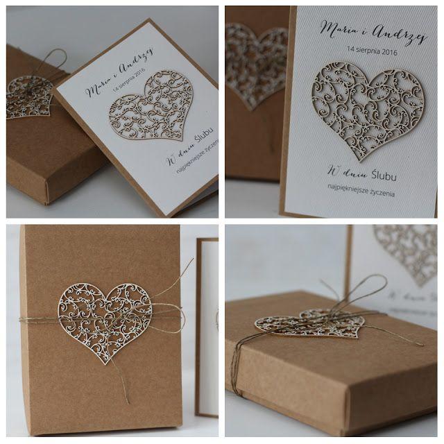 papieroffka  rustykalnie rustykalna katka pudełko na ślub