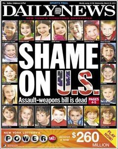 """""""Honte aux États-Unis, honte à nous"""" : la une du New York Daily New"""