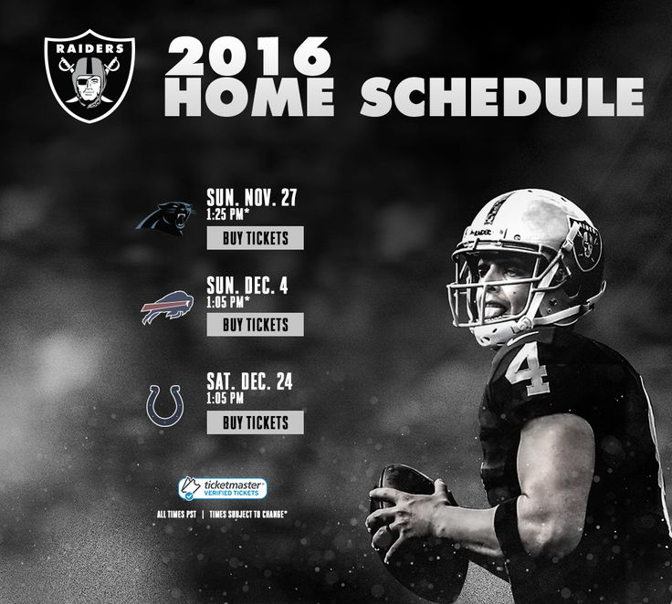 Oakland Raiders   Single Game Tickets