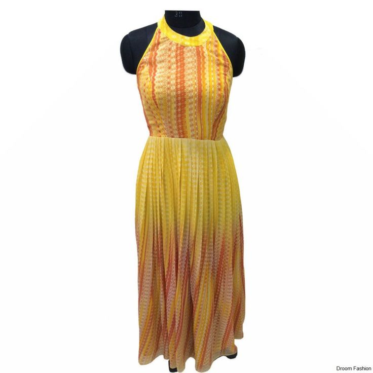 A summer dress is what you need to hop onto the beach looking all sunny and bright. #SummerTime #Yellow #Bright #Breezy #DroomFashion To shop, visit us on http://www.droomfashion.com/