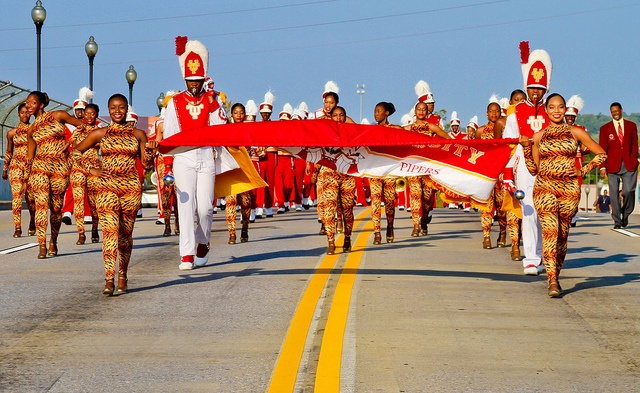 The Marching Crimson Pipers of Tuskegee University!  Y'all looking good out there!