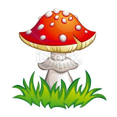 Fly-agaric illustration Royalty Free Stock Vector Art Illustration